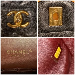 CHANEL Bags - Authentic CHANEL Maxi Double Flap Bag Caviar GHW